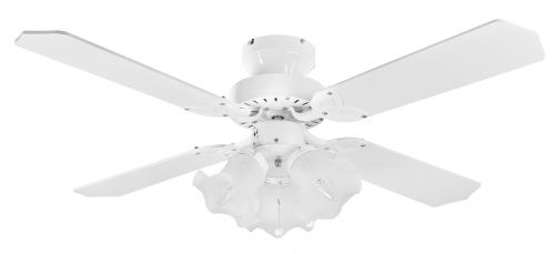 "Eurofans Rio 36"" White  Ceiling Fan +  Light 110248"